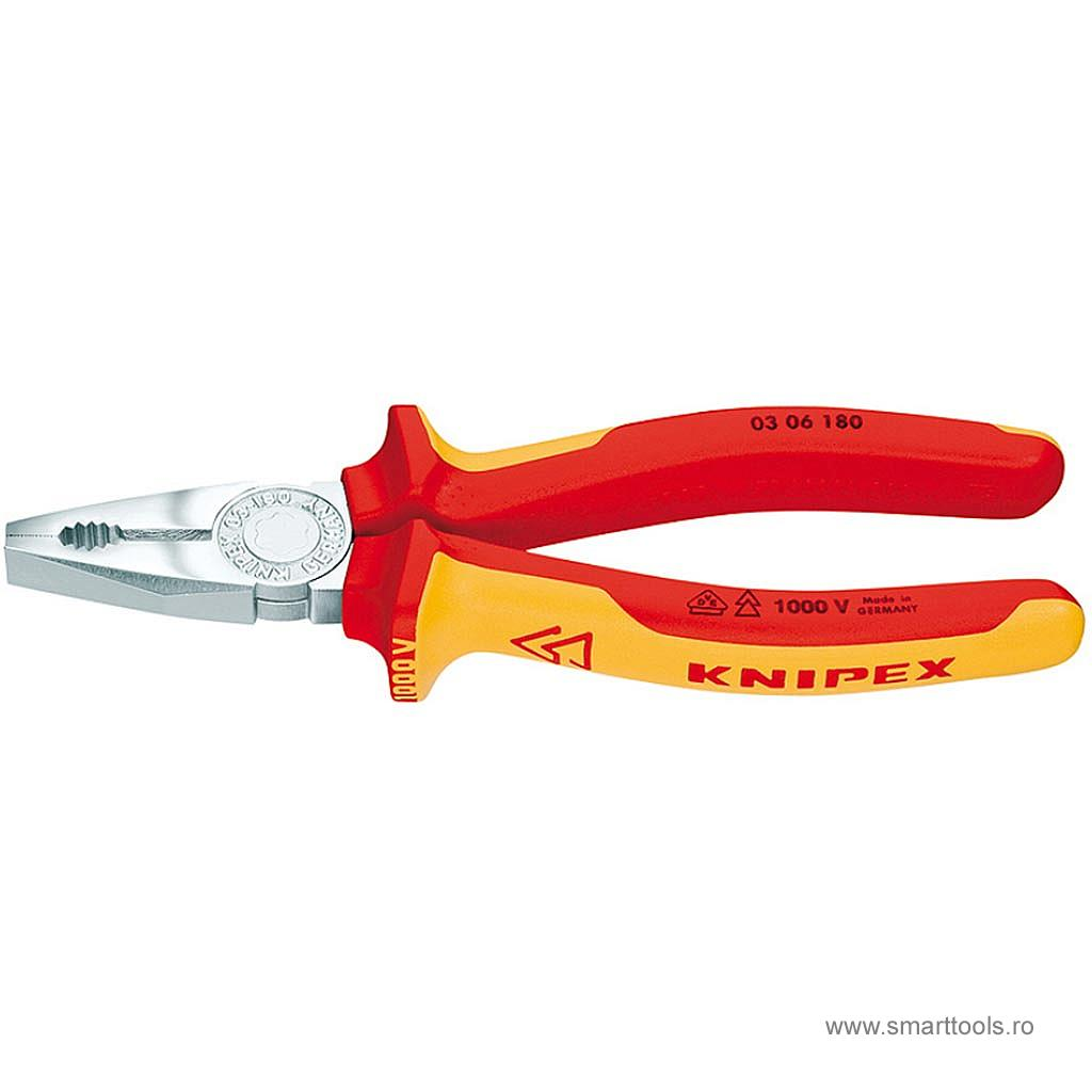 Cleste combinat VDE Knipex - 180 mm