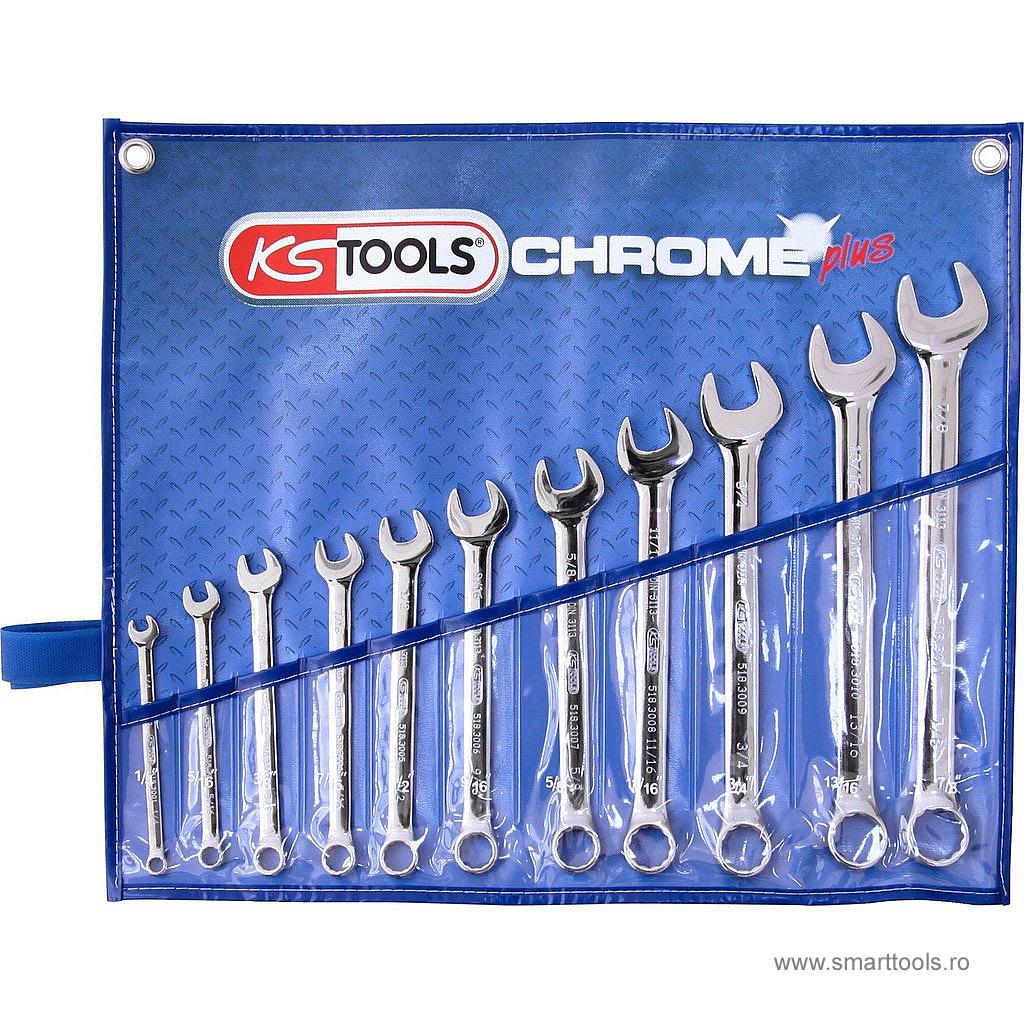 Set chei combinate in toli 11 piese KS TOOLS